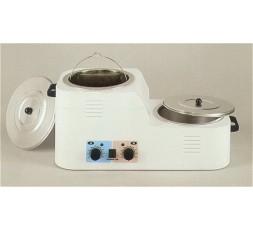 Traditional depilatory wax heater, 2 recipients, 8 Lt.