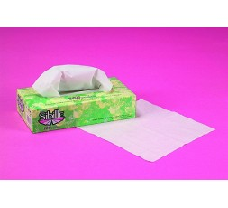 Cosmetic tissues, white, dispenser 100 pieces