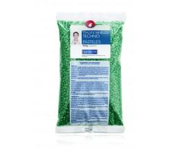 Hot wax pearls Green, 1 kg