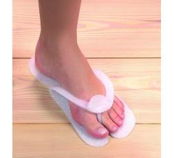 Sandalen aus geschäumten Kunststoff weiss 60 Stück
