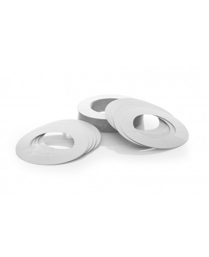 Anti-drip collars for jar of depilation, 50 pieces
