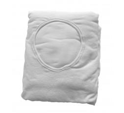 Drap-Housse pour table de massage en tissu-éponge blanc 260gr-m2 avec trou facial