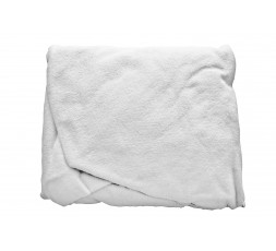 Couch cover in washable cotton towelling, without face hole, WHITE 260gr-m2