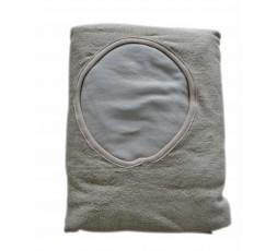 Bettbezug aus Frotte, für Massage-Liegen WEISS 260gr-m2 mit Gesicht Loch
