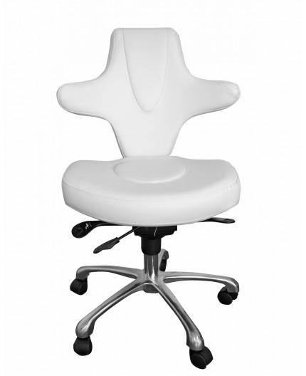 Chaise à roulettes Stella - Blanc