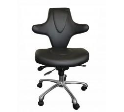 Chaise à roulettes Stella - Noir