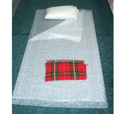 Sleeping kit in TNT, 2 sheets and 1 pillow cover