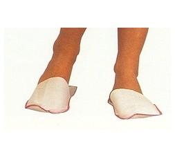Closed slipper, in TNT, white, 100 pieces