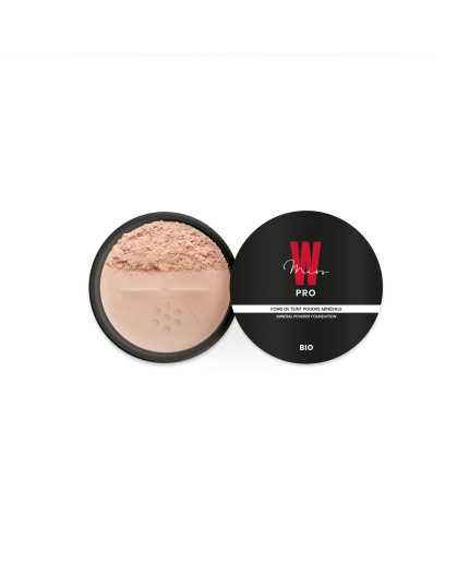 Fond de teint poudre minérale N°21 Beige naturel - Miss W